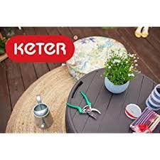 amazon com keter 37 gallon circa natural wood style round