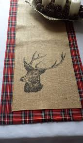 burlap christmas table runner stag burlap table runner perfect for layering ower my tartan table