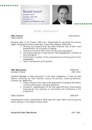 Hospitality Resume Writing Example Cv Writing Sample Cv