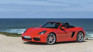 red porsche boxster 2017 2017 porsche 718 boxster s red front three quarter hd