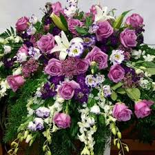 floral spray lavender meadow casket casket floral spray in chatham nj