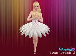 swan dress tehmango swan dress