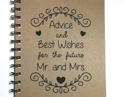 bridal shower best wishes wedding advice book etsy