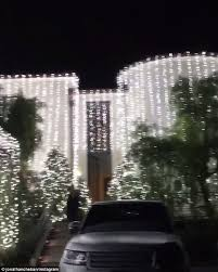 how to put christmas lights on your car kim kardashian and kanye west s bel air mansion sparkles with