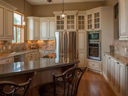 Traditional Kitchen Cabinet Handles Single Double Doors Cabinets Built In Stove Glass Door Wall