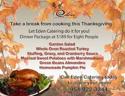 thanksgiving catering florida catering