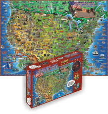 usa map jigsaw puzzle dino s usa children s puzzles puzzlewarehouse