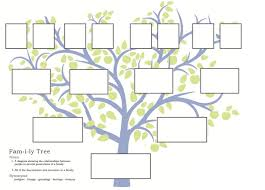 free family tree template to print google search baby talk