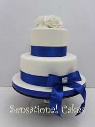 wedding cake royal blue 2 tier wedding cake royal blue royal blue wrapped ribbon wedding
