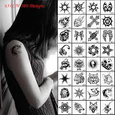 tattoo cross dragon hot 6x6cm black waterproof temporary small tattoo sticekers dragon