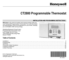 thermostat users guides