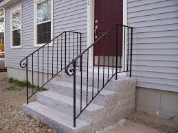 modern iron railing for outside steps u2014 railing stairs and kitchen