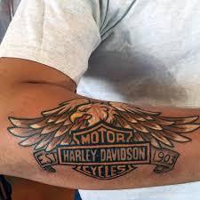 cool forearm harley davidson eagle tattoos for men tattoo