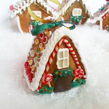 gingerbread ornaments miniature gingerbread house christmas ornament christmas