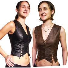 biker waistcoat women u0027s leather vests by bikers paradise