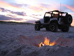 jeep wrangler beach amazing shot of a modified jeep tj by a fire on the beach jeep tj