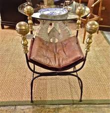 Savanarola Chair Iron And Brass Savonarola Curule Chair Sold Items 20th C