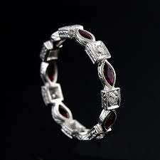 platinum art deco marquise ruby diamond eternity ring 3 2mm
