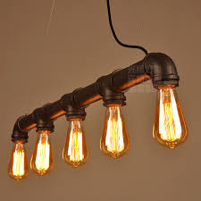 decorative lights for home shop pipe pendant lights industrial lightings 5 arms lights