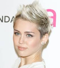 miley cyrus oval face with short mohawk hairstyles hair