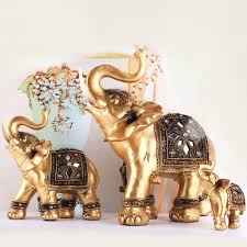 lifelike golden elephant exquisite soft resin ornaments