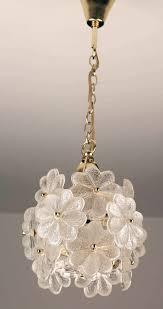 Flower Pendant Light Palwa Glass Flower Pendant Light Brass Ceiling L Floral