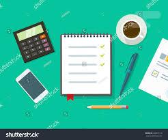 work desk vector illustration on green stock vector 420912115