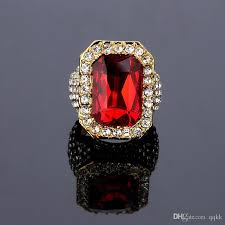 ruby rings designs images 2018 band designer 18k gold plated ruby ring for men hiphop cubic jpg