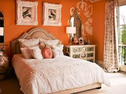 bedroom colour combination for bedroom with orange and white