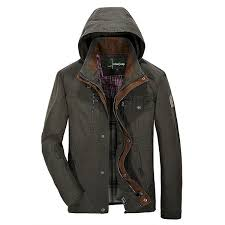 jeep rich jacket mens casual cotton hooded detachable jacket spring autumn outdooors