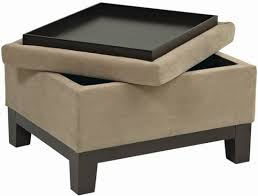 Ottomans With Trays Storage Ottoman With Tray Dans Design Magz