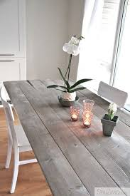 how to make a rustic kitchen table diy dining table easy driftwood stain and diy dining table
