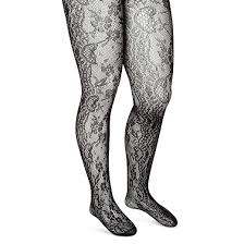 s plus size tights black floral lace target