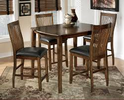 wood polyester cross brown nailhead ashley furniture kitchen table