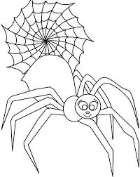 Male Spider In Front Of Spider Web Coloring Page Netart Spider Web Coloring Page