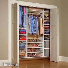 Cabinet Clothes Build Your Own Melamine Closet Organizer Family Handyman