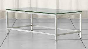 Sofa Table Crate And Barrel Era Rectangular Glass Coffee Table Crate And Barrel