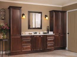 awesome bathroom vanity with linen tower room design plan