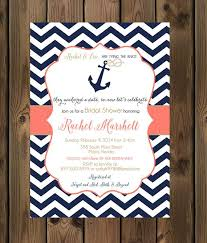 nautical bridal shower invitations navy and coral wedding shower invitations nautical bridal shower