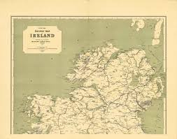 Ireland Rail Map Ireland Maps Of Railways U2013 L Brown Collection
