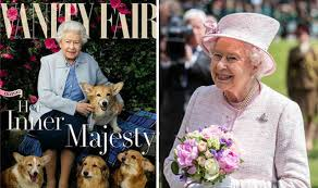 The Queens Corgis Cover Queen And Pet Dogs To Appear On Vanity Fair Summer