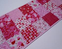 valentines day table runner quilted table topper quilted table runner