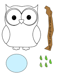 halloween owl template wise owl craft