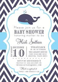 whale baby shower invitations navy white baby blue chevron whale nautical baby shower or