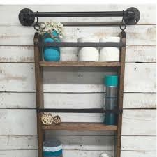 Wood Bathroom Shelves by Best 25 Bathroom Ladder Shelf Ideas On Pinterest Bathroom