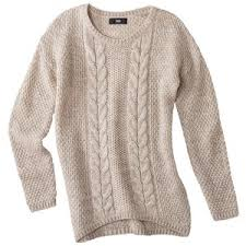 mossimo s cable high low pullover sweater assorted