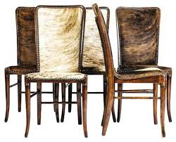 dining table with hidden chairs cow hide dining chairs cowhide dining chair cowhide dining room
