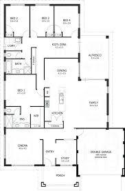 Simple 4 Bedroom Floor Plans 4 Bedroom 1 Floor House Plans Simple