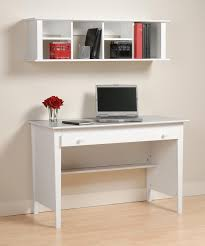 White Laminate Wood Flooring Simple Minimalist Home Office Furniture Design With White Wooden
