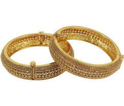 gold pearl bangle bracelet images Buy gold pearl bangles and bracelets online jpeg